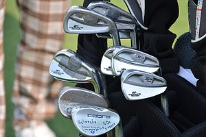 Jonas Blixt, winner of the 2013 Greenbrier Classic, uses these Cobra S3 Pro irons and the company's new Tour Trusty lob wedge.