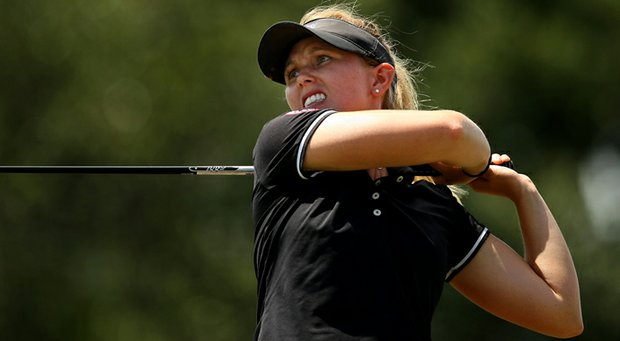 Kendall Prince defeated Casey Danielson in 20 holes during the Round of 64 match play at the 2013 U. S. Women's Amateur.