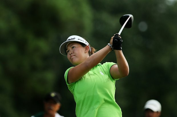 Lauren Diaz-Yi took down the stroke-play medalist, Yumi Matsubara, 2 and 1 during the Round of 32 match play at the 2013 U. S. Women's Amateur.