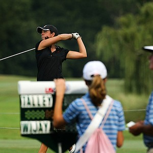 Emma Talley defeated Tatiana Wijaya, 8 and 7, during the Round of 32 match play at the 2013 U. S. Women's Amateur.