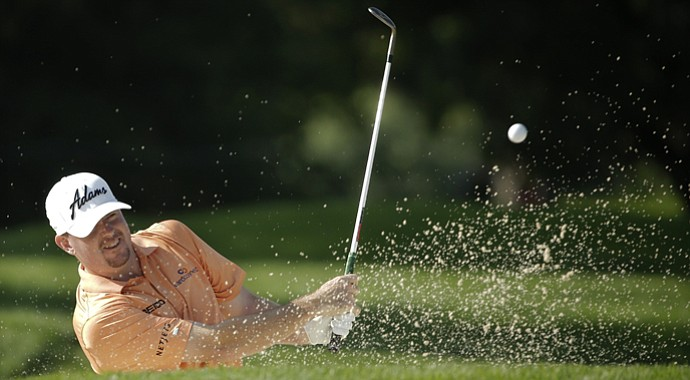Robert Garrigus during the first round of the PGA Championship.