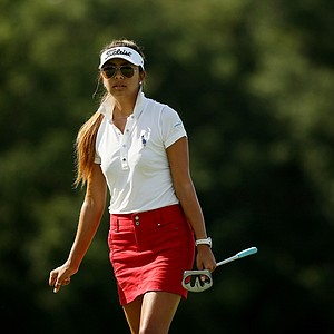 Alison Lee advances to the semifinals after defeating Katelyn Sepmoree 4 and 3 during the quarterfinals of match play at the 2013 U. S. Women's Amateur at Country Club of Charleston.