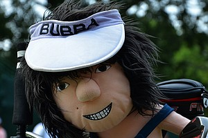 It's easy to spot Bubba Watson's Ping golf bag in a crowd.