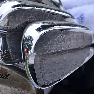 Boo Weekley's Cleveland Forged 588 MB irons have lots of extra weight tape added behind the face.