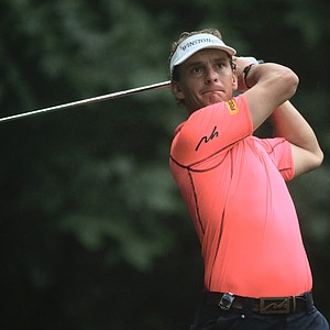 Joost Luiten hits his tee shot on the third hole during the second round of the 95th PGA Championship.