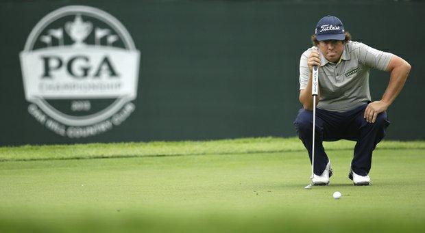 Jason Dufner during the 2013 PGA Championship at Oak Hill.