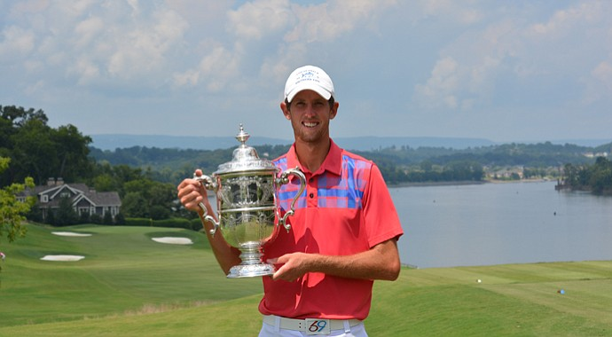 Steven Fox after his 2013 Tennessee State Amateur victory at Chattanooga Golf and Country Club.