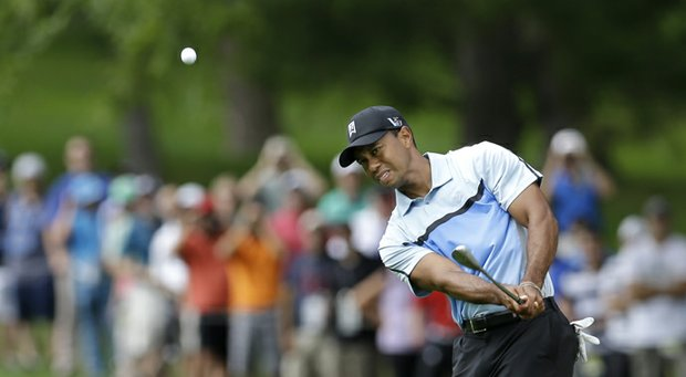 Tiger Woods during the 2013 PGA Championship at Oak Hill.