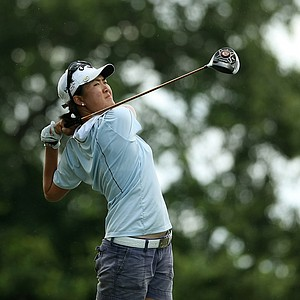 Yueer Cindy Feng during the semifinals of match play at the 2013 U. S. Women's Amateur at Country Club of Charleston.