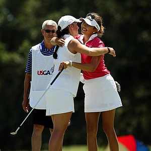Emma Talley defeated Alison Lee to advance to the finals during the semifinals of match play at the 2013 U. S. Women's Amateur at Country Club of Charleston.