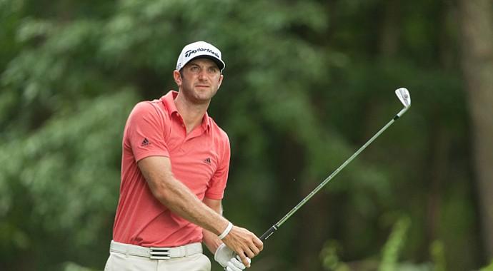 Dustin Johnson during the 2013 PGA Championship at Oak Hill.