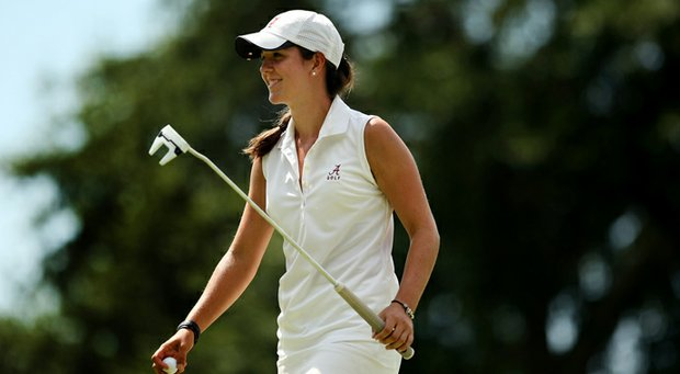 Emma Talley defeated Alison Lee during the semifinals of match play at the 2013 U. S. Women's Amateur at Country Club of Charleston.