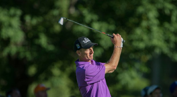 Jim Furyk during the third round of the 2013 PGA Championship at Oak Hill.