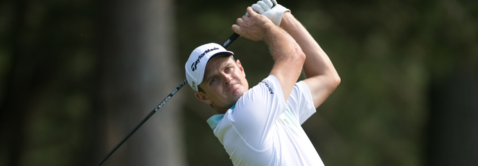 Justin Rose during the 2013 PGA Championship at Oak Hill.