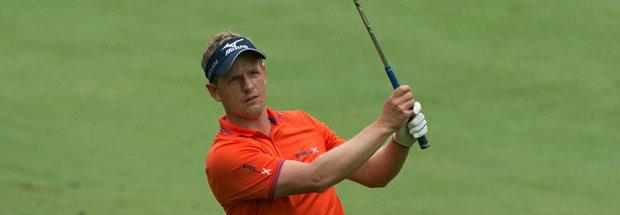 Luke Donald during the 2013 PGA Championship at Oak Hill.