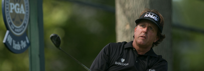 Phil Mickelson during the third round of the 2013 PGA Championship at Oak Hill.