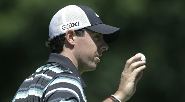 Rory McIlroy during the third round of the 2013 PGA Championship at Oak Hill.
