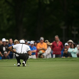 Tiger Woods during the third round of the 2013 PGA Championship at Oak Hill.