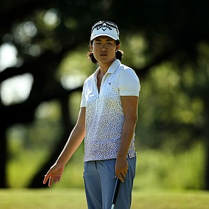 Yueer Cindy Feng during the first 18 holes of the final round of match play at the 2013 U. S. Women's Amateur at Country Club of Charleston.