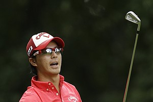 Ryo Ishikawa during the final round of the 2013 PGA Championship at Oak Hill.