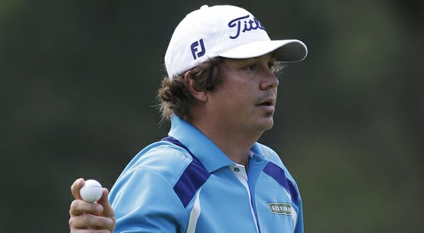 Jason Dufner during the final round of the 2013 PGA Championship at Oak Hill.