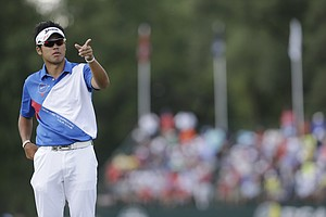 Hideki Matsuyama during the final round of the 2013 PGA Championship.