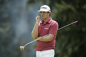 Keegan Bradley during the final round of the 2013 PGA Championship at Oak Hill.