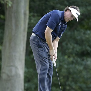 Phil Mickelson during the final round of the 2013 PGA Championship at Oak Hill.