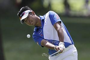 Hideki Matsuyama during the final round of the 2013 PGA Championship at Oak Hill.