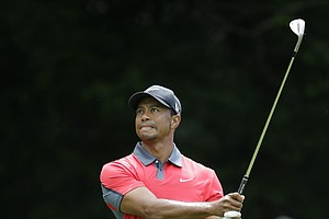 Tiger Woods during the final round of the 2013 PGA Championship at Oak Hill.