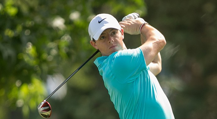 Rory McIlroy during the final round of the 2013 PGA Championship at Oak Hill.