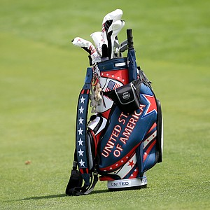 U.S. team golf bag during practice for the 2013 Solheim Cup at The Colorado Golf Club.