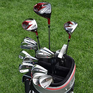 Tiger Woods uses 14 Nike Golf clubs and the company's One Tour D golf ball.