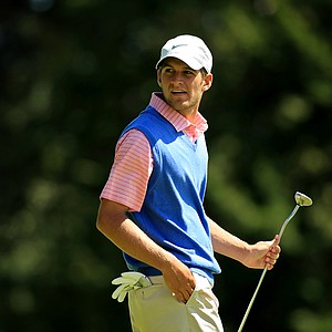 Carr Vernon defeated Matt  Emery during the Round of 64 at the 2013 U. S. Amateur at The Country Club.