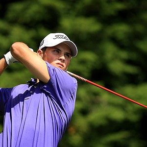 Gavin Hall defeated Bo Andrews 2 and 1 during the Round of 64 at the 2013 U. S. Amateur at The Country Club.