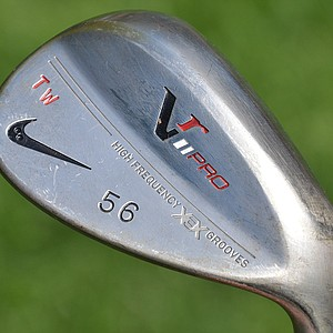 Tiger Woods carries a 56-degree VR Pro sand wedge with a True Temper Dynamic Gold S400 shaft.