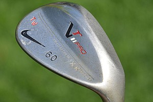 Tiger Woods also carries a 60-degree VR Pro lob wedge with a dual-sole design that makes it easier for him to slide the leading edge under the ball on shots from tight lies.