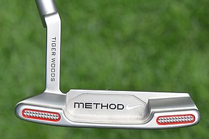 Tiger Woods' name also has been etched on the back of the hosel.