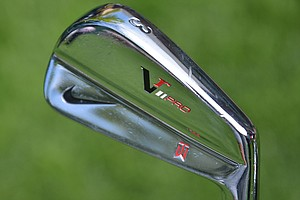 Occasionally, Tiger Woods swaps out his 5-wood for a Nike VR_S Forged 2-iron, but typically his longest iron is this VR Pro 3-iron.