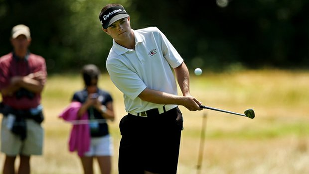 Chelso Barrett defeated Jim Liu 3 & 2 during the Round of 64 at the 2013 U. S. Amateur at The Country Club.