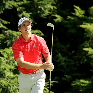 Patrick Rodgers defeated Greg Eason, 3 and 2, during the Round of 32 at the 2013 U. S. Amateur at The Country Club.
