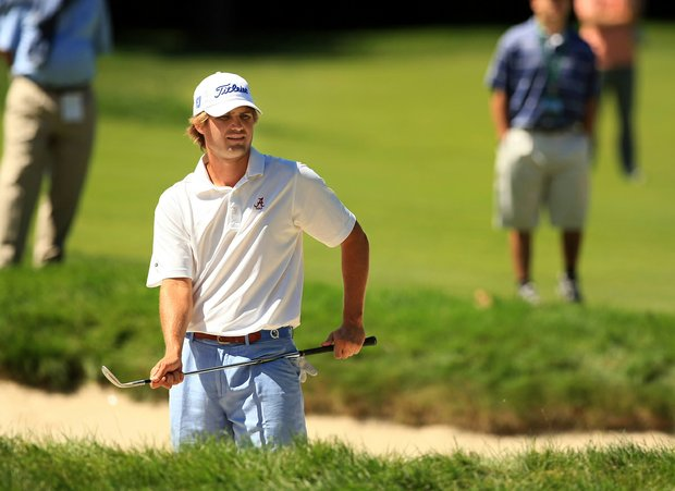 Bobby Wyatt lost to Gavin Hall 4 and 2 during the Round of 32 at the 2013 U. S. Amateur at The Country Club.