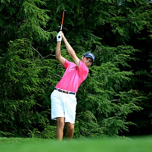 Gavin Hall defeated Bobby Wyatt during the Round of 32 at the 2013 U. S. Amateur at The Country Club.