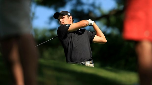Corey Conners defeated Patrick Rodgers during the Round of 16 at the 2013 U. S. Amateur at The Country Club.
