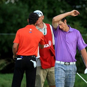 Charlie Hughes lost to Brady Watt during the Round of 16 at the 2013 U. S. Amateur at The Country Club.