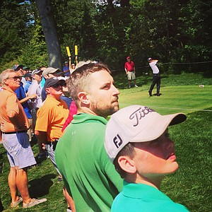 Instagram view of Zac Blairs at No. 15 in the Round of 32 at the 2013 U. S. Amateur at The Country Club.