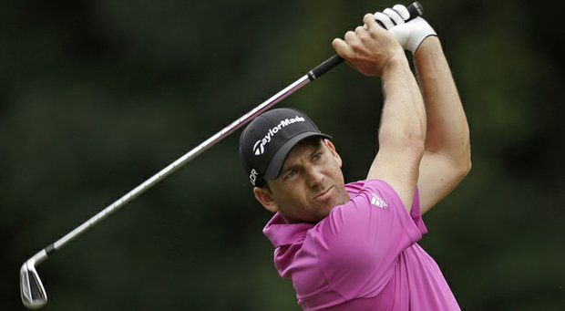 Sergio Garcia during the first round of the 2013 Wyndham Championship in Greensboro, N.C.