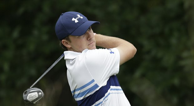 Jordan Spieth during the second round of the 2013 Wyndham Championship.