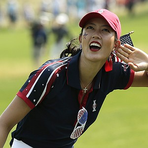 Michelle Wie during the first day of 2013 Solheim Cup competition at Colorado Golf Club.