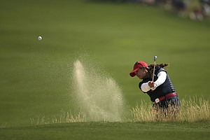 Lizette Salas during the first day of 2013 Solheim Cup play at Colorado Golf Club.